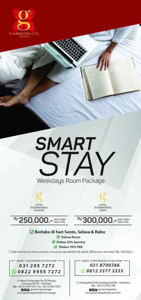 Smart Stay 9.9 x 21cm cetak 250